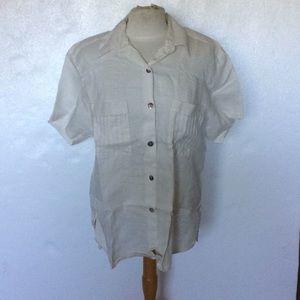 Carry Back White Button Down Shirt SZ 14